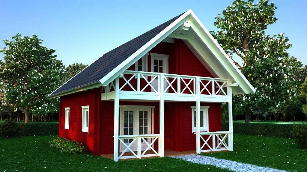 holzhaus stella einfamilienhaus von blockhaus 24. Black Bedroom Furniture Sets. Home Design Ideas